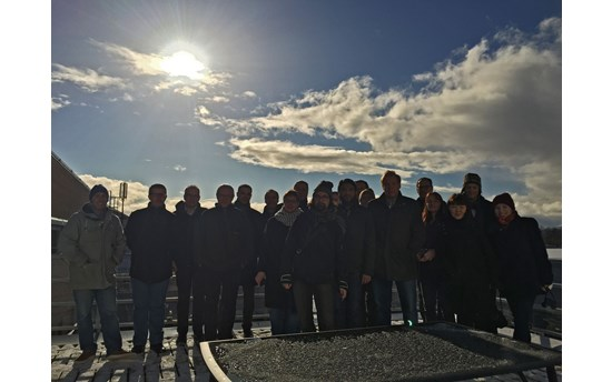 UArctic Thematic Networks Program Team in Bodø, pictured during the eclipse.